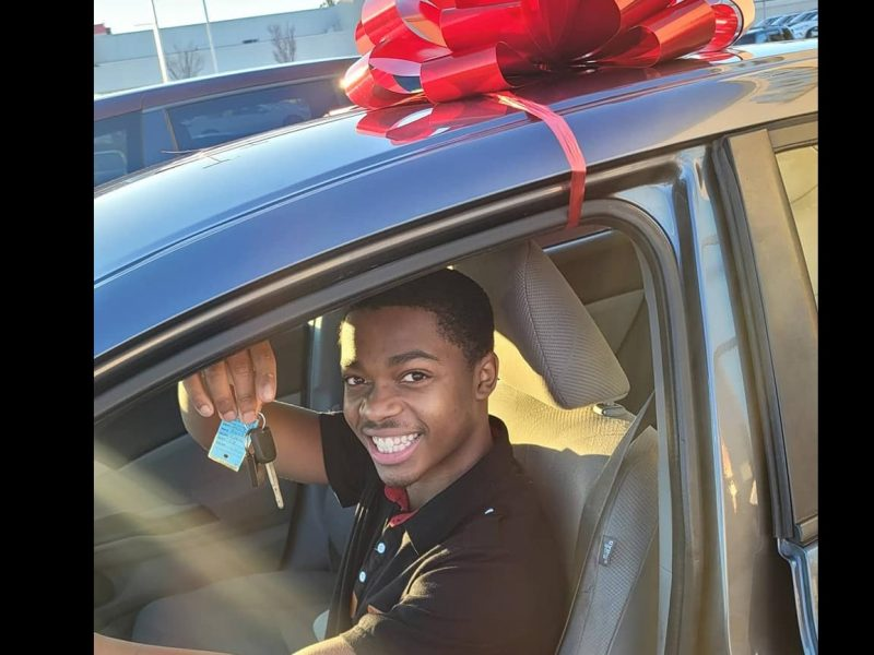 Sutton surprised with a free car from Wright who started a donation campaign for him