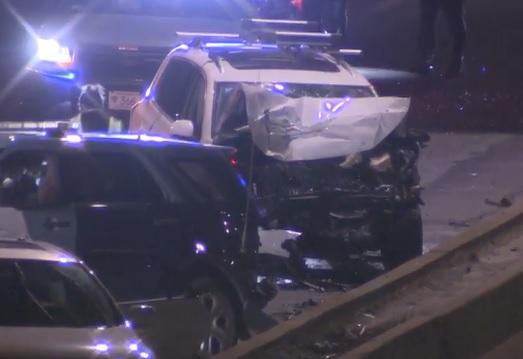 Trooper injured in Medford, Massachusetts, after car hits