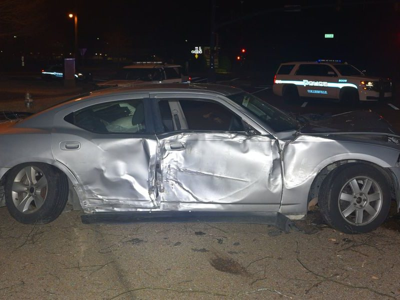 car damaged after dragging Collierville police officers in Tennessee