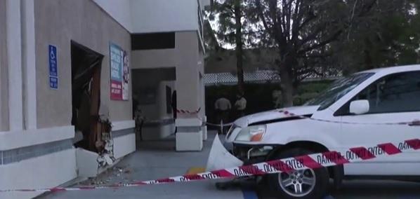 3 kids hospitalized as car crashes into Santa Clarita building in California