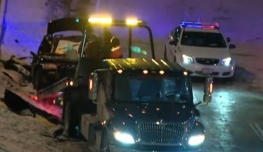 car crash in Dan Ryan Expressway Near 63rd Street, Chicago