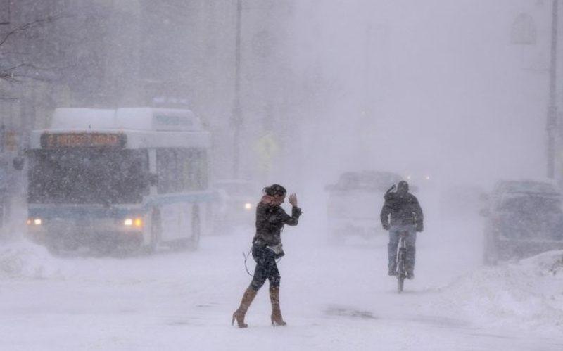 snow in maine, portland