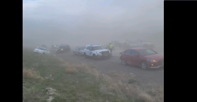Seven-car crash in I-182 Richmond