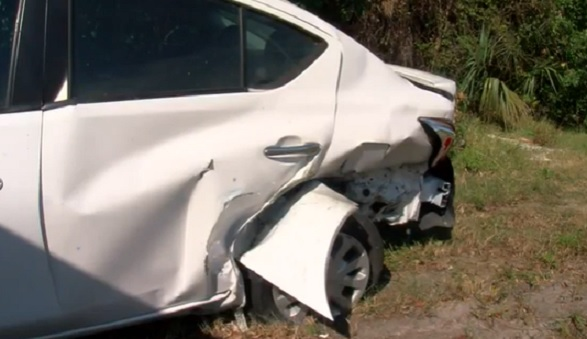 car destroyed in Charlotte County, Florida