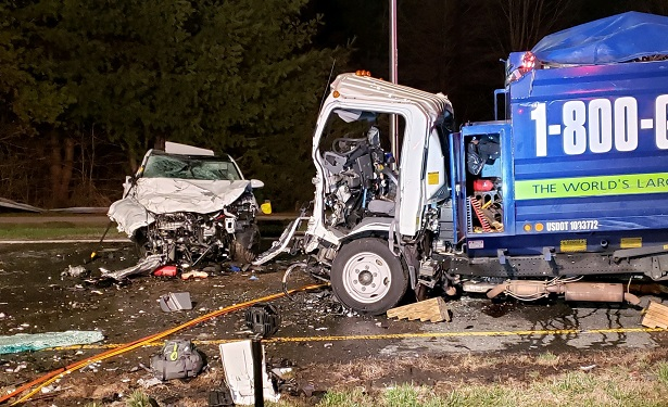 car and truck crash in Montgomery County, Maryland