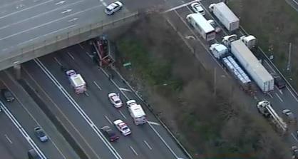 Truck crash in Nassau County, New York