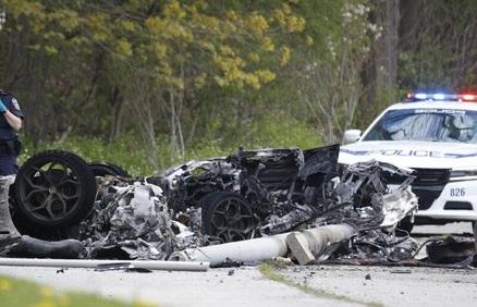 Ferrari crash in Mississauga, Ontario