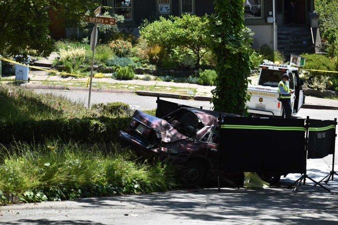 car crash in Berkeley Hills