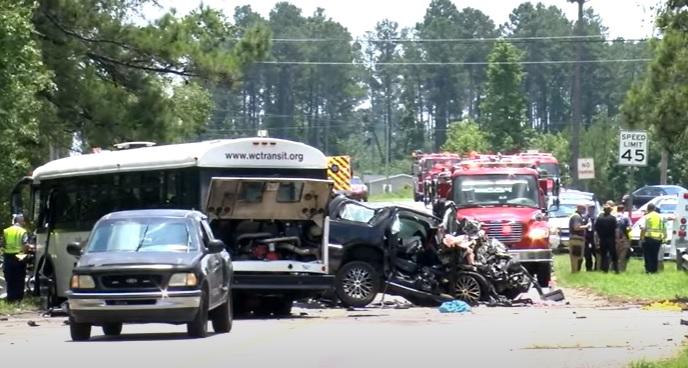 Georgetown crash between bus and SUV