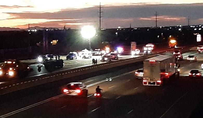 crash on I-15 in Davis County, Utah