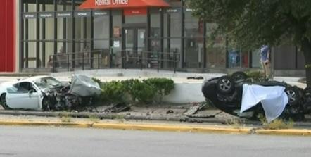 Ferrari and Hyundai Elantra crash in Houston