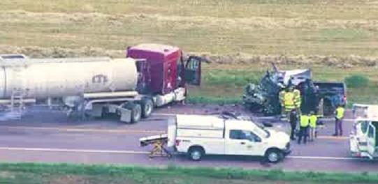 crash in Highway 14, Weld County, Colorado