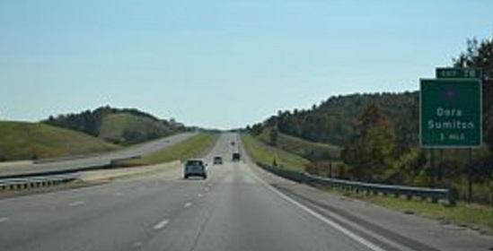 I-22 in Walker County, Texas