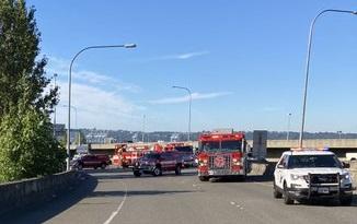 crash in I-705, Tacoma, Washington