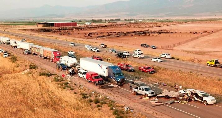 Utah 22 cars pileup