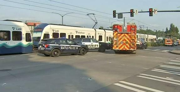 Light rail crash in South Seattle