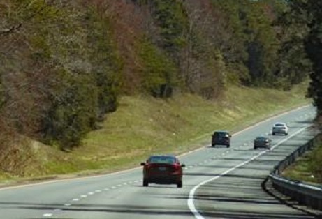 I-64, Louisa County, Virginia