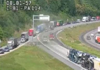 crash on I-81 near Mechanicsburg, Cumberland County