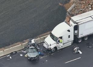 crash on I-66, Virginia